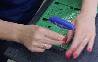 Vorbereitung der Leiterplatte zur Bestueckung